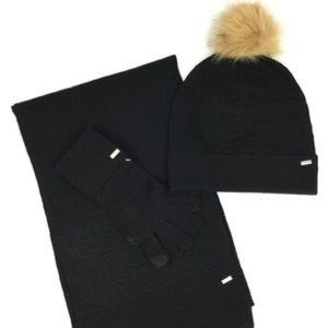COACH | Black Signature Embossed Knit Scarf